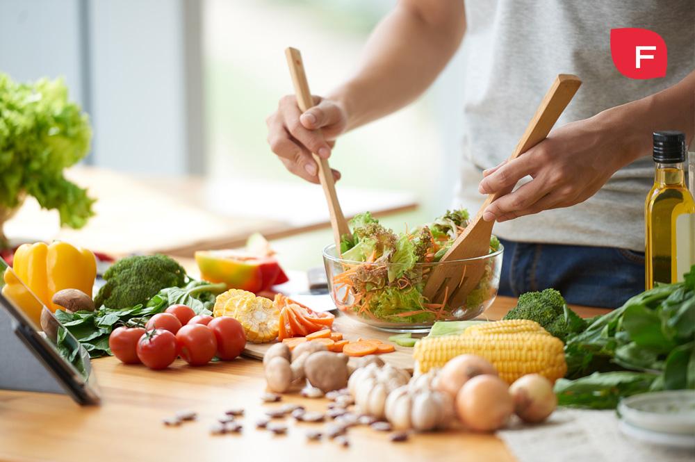Ingredientes para una ensalada