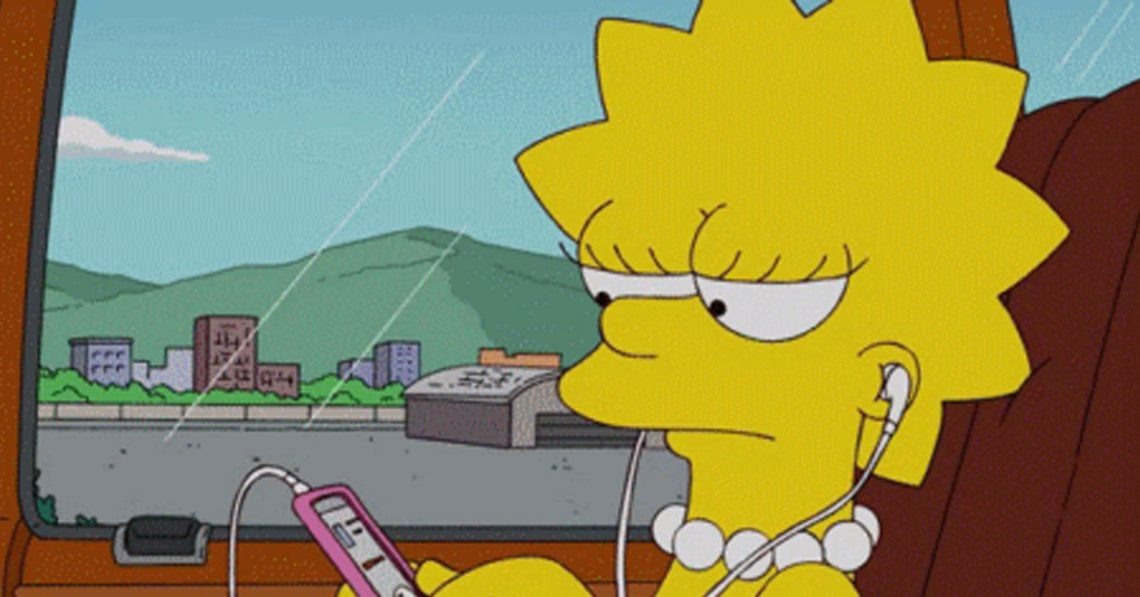 Lisa Simpson escuchando música