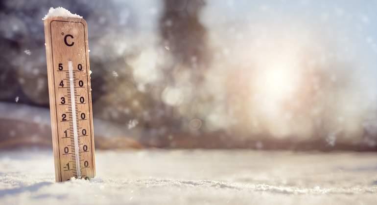 Termómetro en la nieve