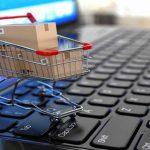 Carrito de compras en una computadora