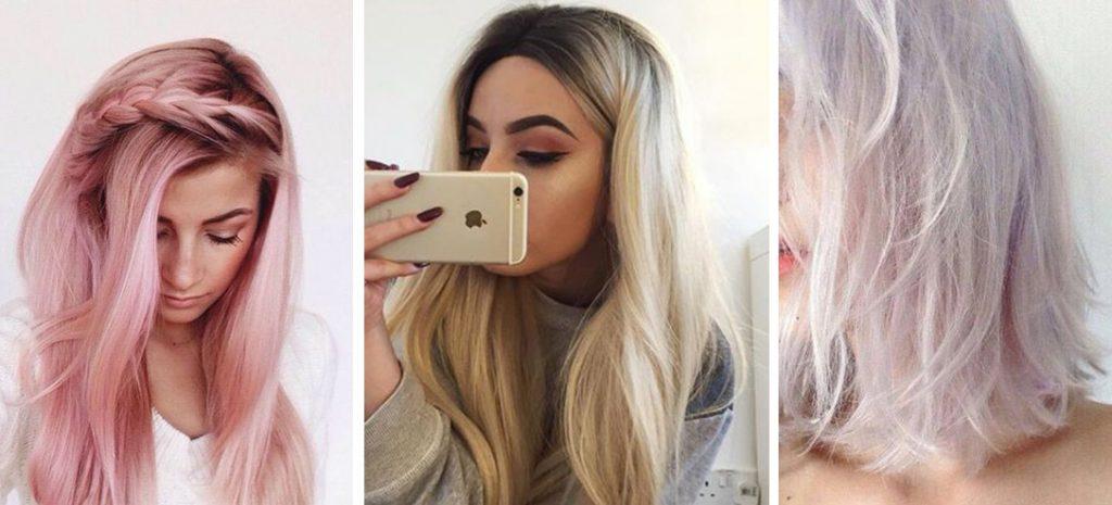 Chicas con el cabello teñido