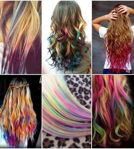 Chicas con cabello de colores