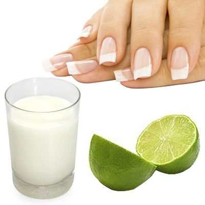 leche para las uñas