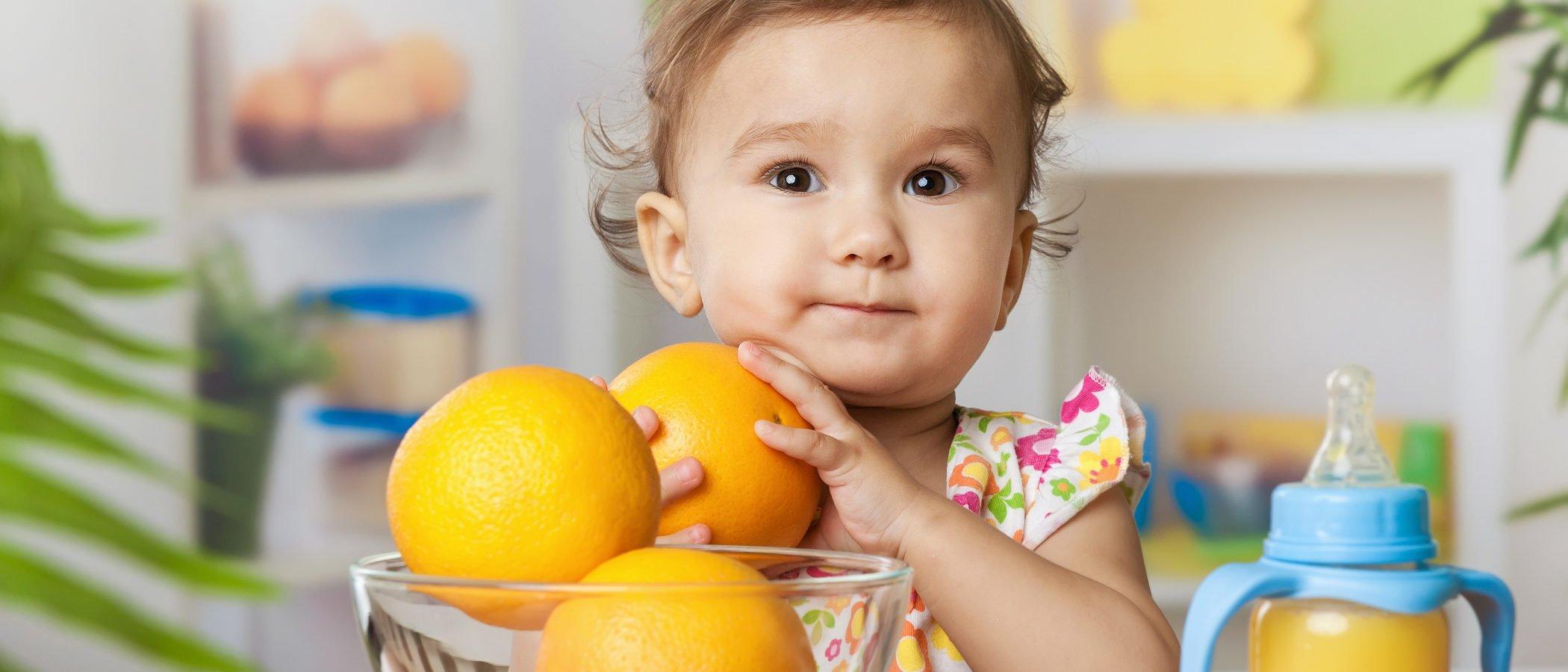 mi bebé puede comer naranja